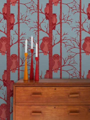 The Owls - Wallpaper design by Camilla Meijer