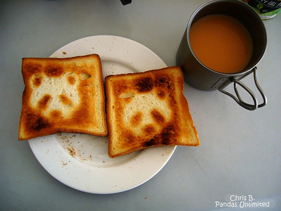 Panda toast: Source: Kerli.buzznet.com