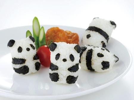 Panda rice balls: Source: Bentoandco.com