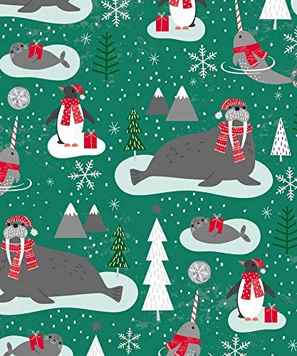Arctic Animals Christmas Wrapping Paper