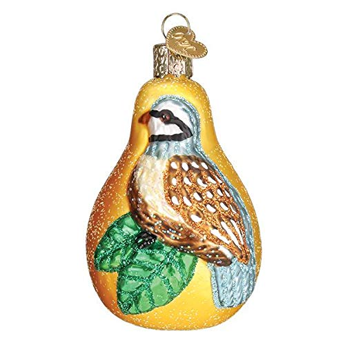 Partridge in a Pear Christmas Ornament