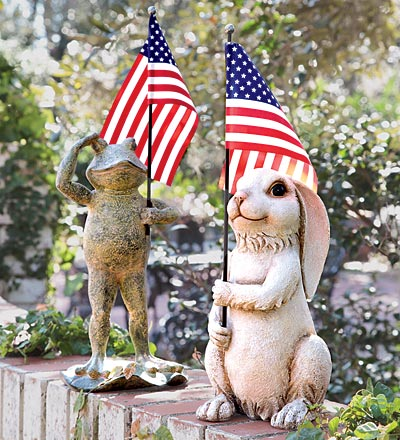 Choose between a frog or rabbit to show your American spirit