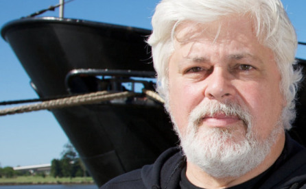 Paul Watson is at the center of the controversy over Costa Rica's shark finning operations