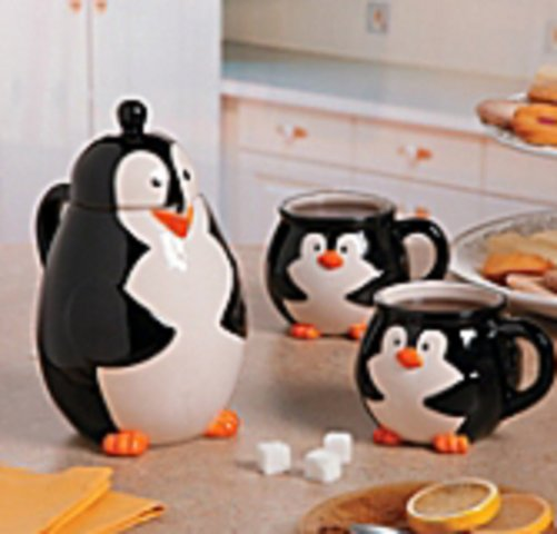 Penguin Teapot and Cup Set