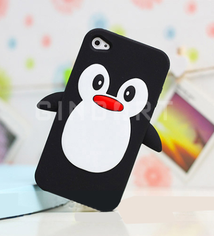 This cute penguin covers iPhone 4