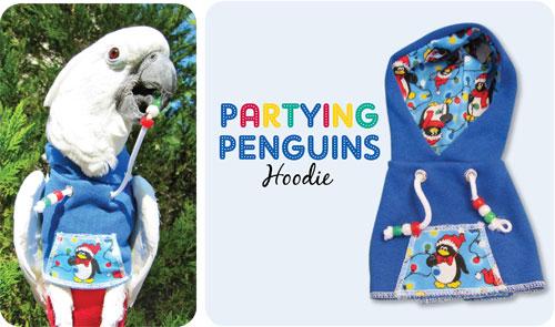 Partying Penguins Hoodie