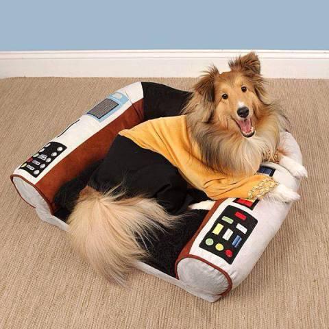 Star Trek Captain's Chair Dog Bed