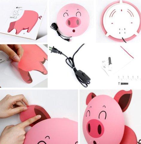 Pink Pig Wallpaper/Nightlight