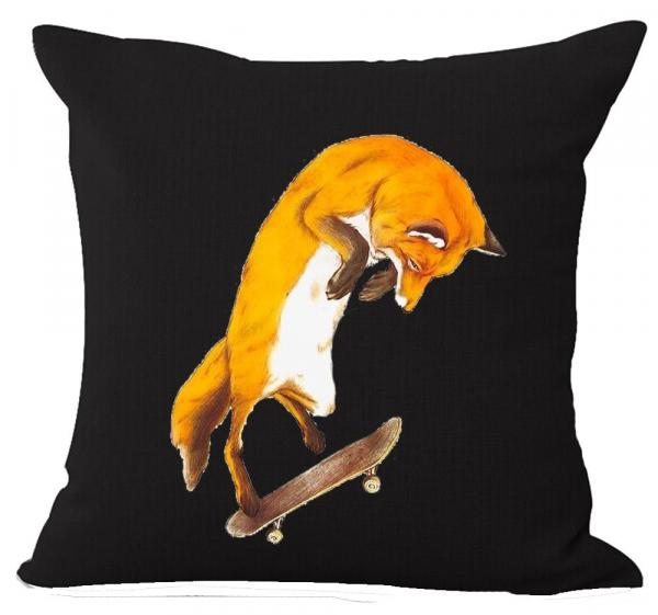 Funny Fox Throw Pillow Case
