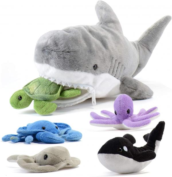Plush Shark and Friends