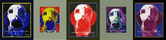 Pop Art Dals by Daleo: Some Warhol-esque dog art by Nancy Daleo.