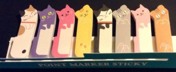 Kitty Cat Post-It Bookmarks
