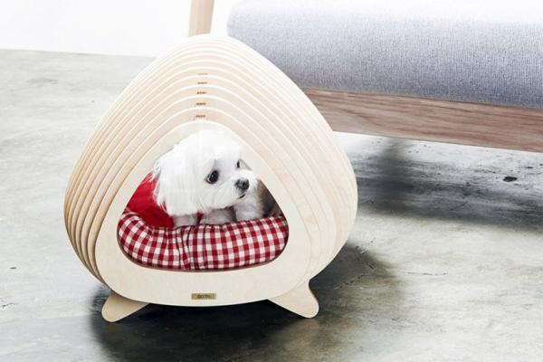 Wooden Fishbone House For Animals