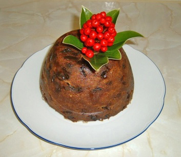 Christmas or Plum Pudding (Photo by Musical Linguist/Creative Commons via Wikimedia)
