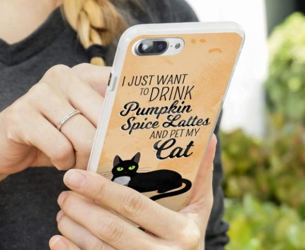 Pumpkin Spice Protective iPhone Case from Graphics and More