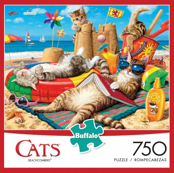 Beachcomber Cats Jigsaw Puzzle
