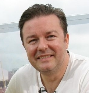 Ricky Gervais (Photo by Admiralty/Creative Commons via Wikimedia)