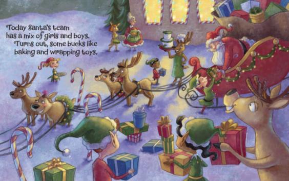 Rosie the Reindeer -- Inside the book (Kickstarter Image)
