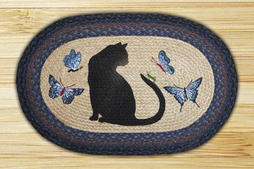 Black Cat with Butterflies