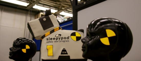 Sleepypod 12-pound weighted 'Max' was used as a test dummy.: image via sleepypod.com