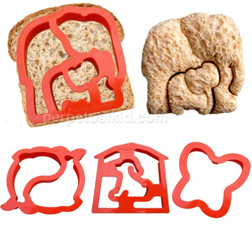 Lunch Punch Animal Shape Sandwich Cutters