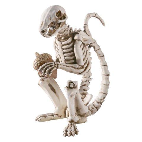 Skel-E-Squirrel Skeleton Squirrel Statue