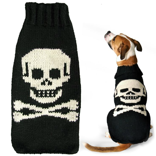 skull and crossbone dog sweaters