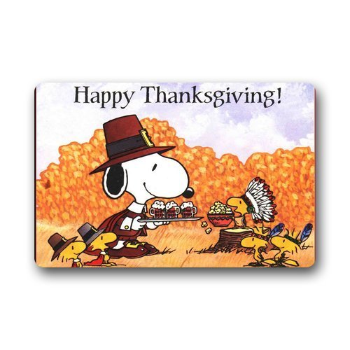 Snoopy Thanksgiving Doormat
