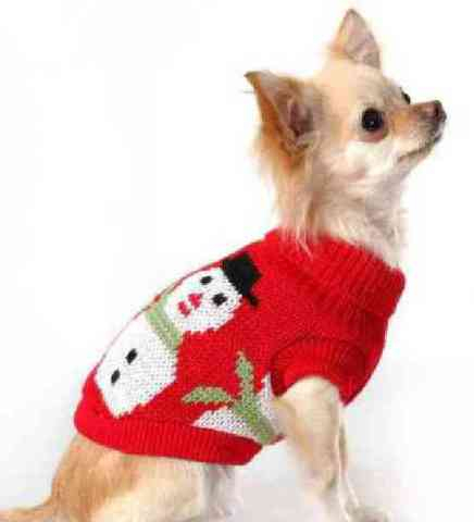 Snowman Dog Sweater