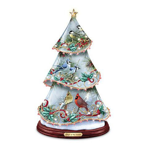 Songbird Art Musical Illuminated Tree