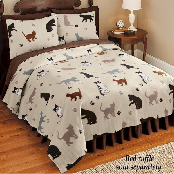 Cat Fleece Coverlet