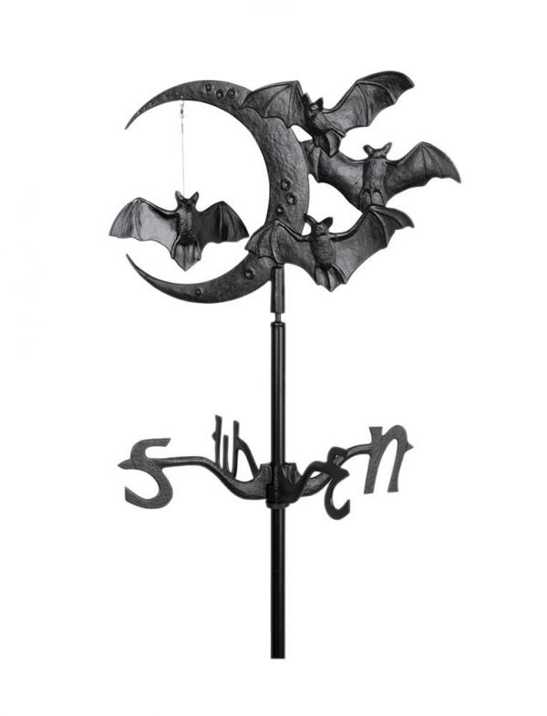 Bats and Moon Garden Weathervane