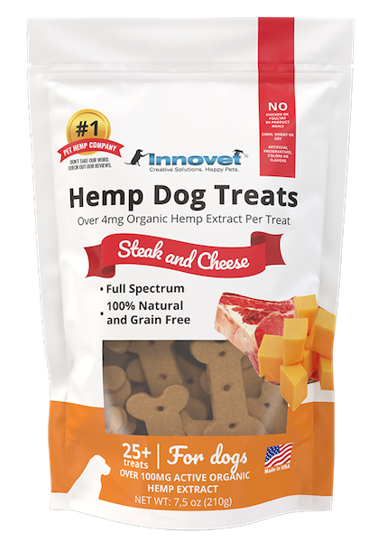 Innovet Pet Hemp Steak & Cheese Dog Treats
