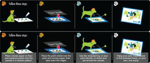 Instructions for Pup-Casso (Kitty-Casso instructions are the same): © Art-Casso