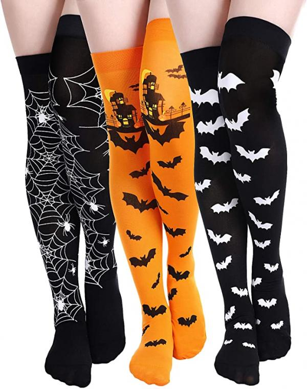 Halloween Thigh High Stockings