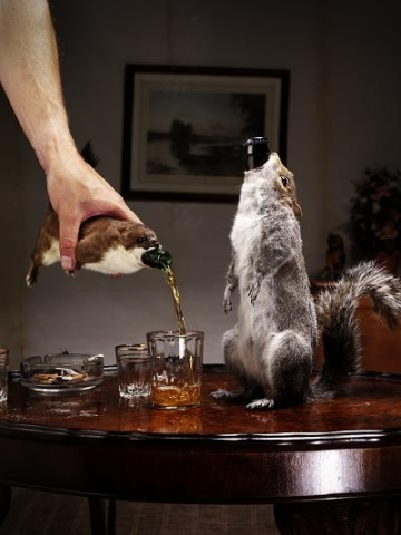 Special edition taxidermy beers sold for $765 a piece.