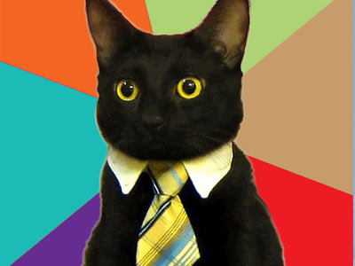 Cat in a Collar and Tie (Image via Me Wanty)