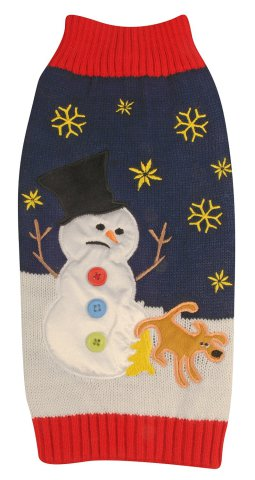 Leg-Lifting Ugly Christmas Dog Sweater