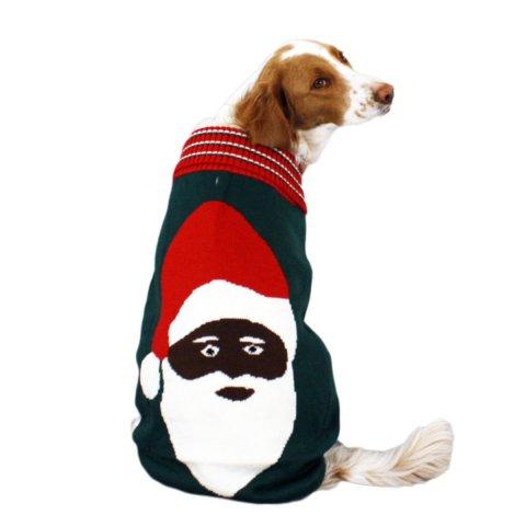 creepy santa ugly christmas dog sweater - Ugly Christmas Dog Sweater
