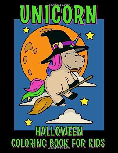 The Unicorn Halloween Coloring Book