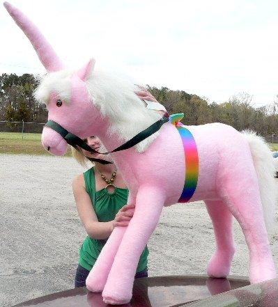 Pink Giant Stuffed Unicorn