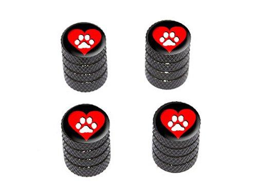 Paw-Print Tire Air Valve Caps