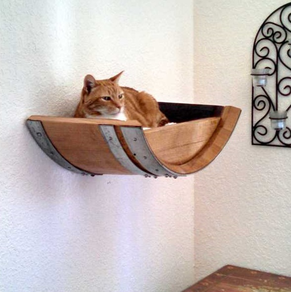 Recycled Wine Barrel Cat Beds Put The Nap In Napa