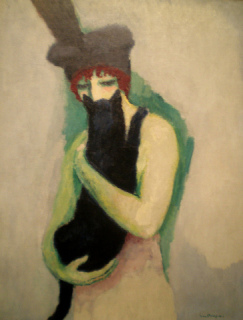 Woman with Cat by Kees van Dongen
