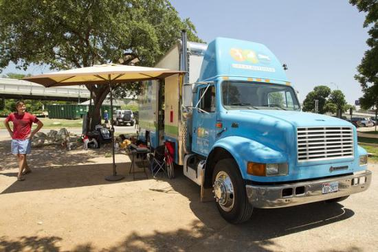 Great OutDogs: Selling pet supplies from an 18 wheeler: image via statesman.com