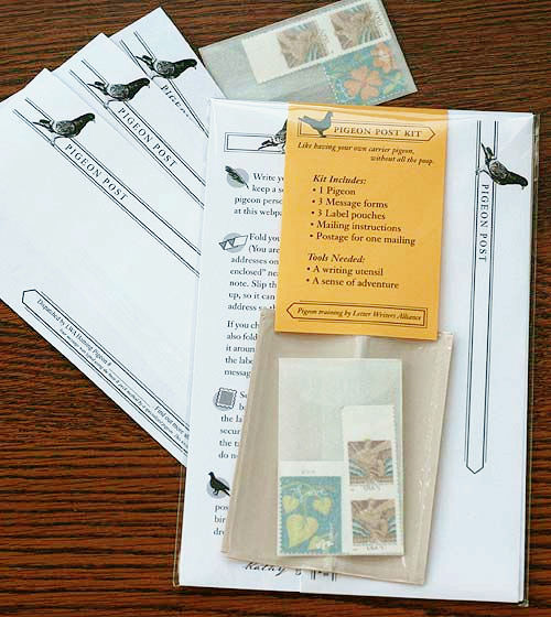 Pigeon Post kit from Letter Writers Alliance