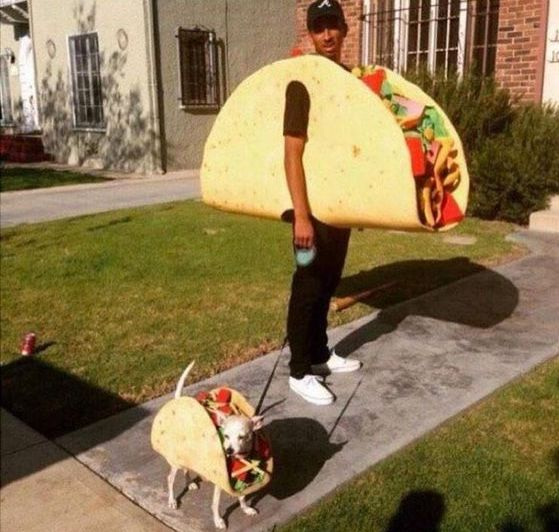 Taco Dog and Dad