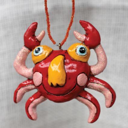 Crabbles Crab Ornament