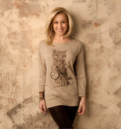 Kitty Crooner Sweater Designed By Kellie Pickler and Geron Ford