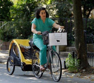 Dr. Elisabetta Coletti makes a housecall in Brooklyn: © Associated Press, photo by Kathy Willems